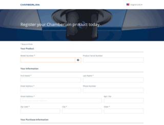 chamberlain.registria.com screenshot