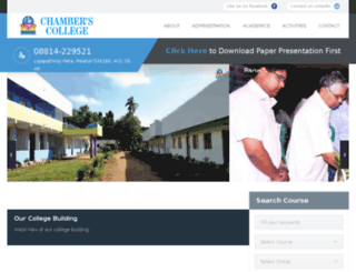 chamberscollege.org screenshot