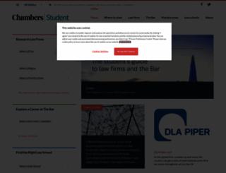 chambersstudent.co.uk screenshot