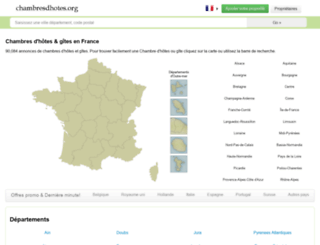 chambresdhotes.org screenshot