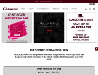 chamonixskincare.com screenshot