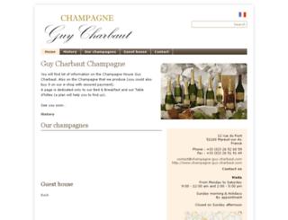 champagne-guy-charbaut.vinocities.com screenshot
