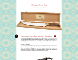 champagnesabre.wordpress.com screenshot