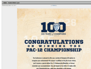 champgifts.pac-12.com screenshot