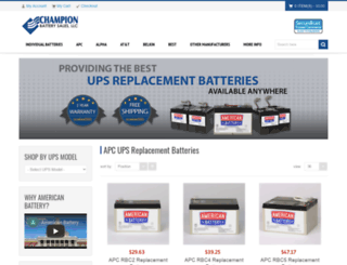 champion-battery-sales.com screenshot