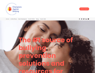 championsagainstbullying.com screenshot