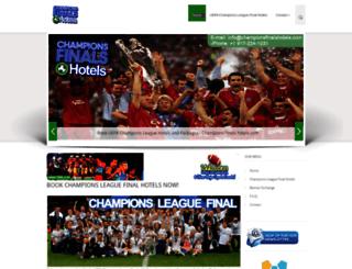 championsfinalshotels.com screenshot