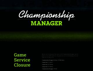 championshipmanager.co.uk screenshot