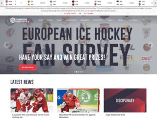 championshockeyleague.net screenshot