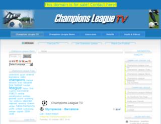 championsleaguetv.com screenshot