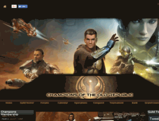 championsoftheoldrepublic.guildlaunch.com screenshot