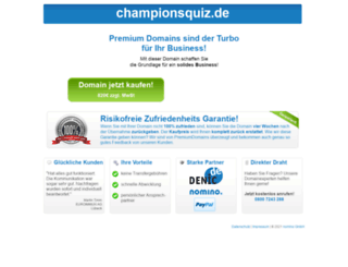 championsquiz.de screenshot