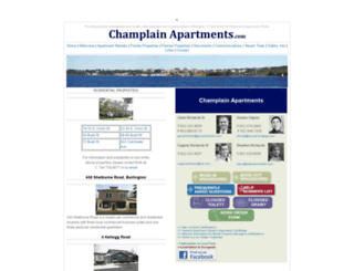 champlainapartments.com screenshot