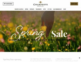 champneys.co.uk screenshot
