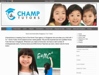 champtutors.com screenshot