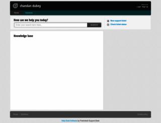 chandandubey.freshdesk.com screenshot