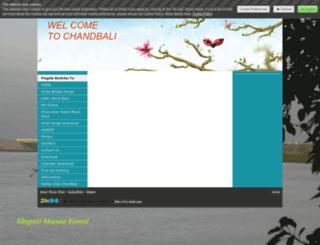chandbali.jimdo.com screenshot