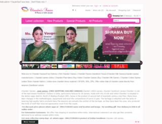 chanderisarees.co.in screenshot