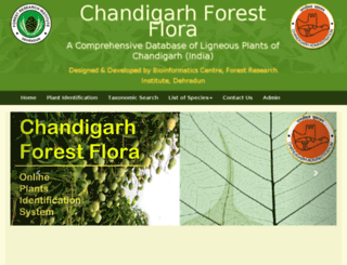 chandigarhforestflora.in screenshot
