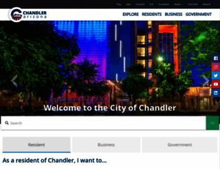 chandleraz.gov screenshot