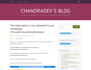 chandradev819.wordpress.com screenshot