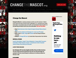 changethemascot.org screenshot
