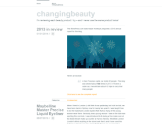 changingbeauty.wordpress.com screenshot