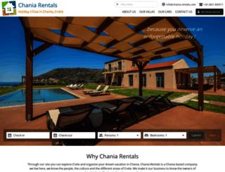 chania-rentals.com screenshot