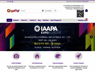 channalinflatables.com screenshot