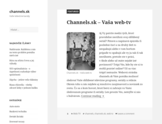 channels.sk screenshot