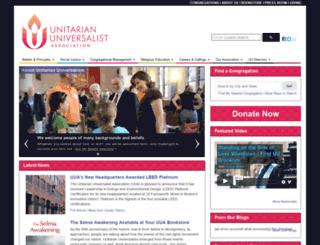 channing.uua.org screenshot