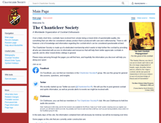 chanticleersociety.org screenshot