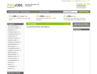 chantilly.ipsojobs.com screenshot