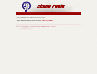 chaos-radio.net screenshot