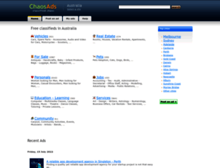 chaosads-australia.com screenshot