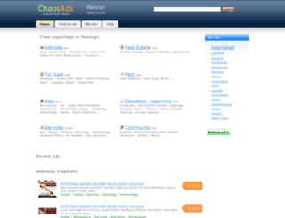 chaosads.pk screenshot