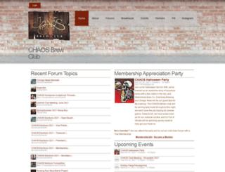 chaosbrewclub.net screenshot