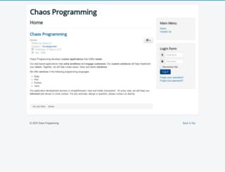chaosprogramming.com screenshot