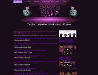 chaoticriffs.com screenshot
