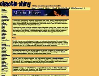 chaoticshiny.com screenshot