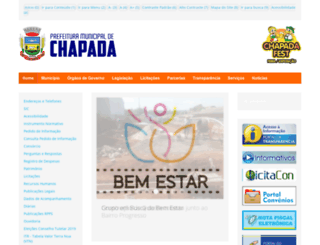 chapada.rs.gov.br screenshot