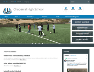 chaparral.guhsd.net screenshot