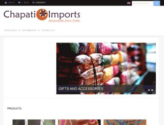 chapatiimports.com screenshot