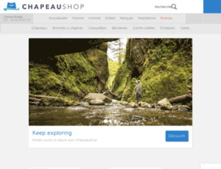 chapeaushop.com screenshot