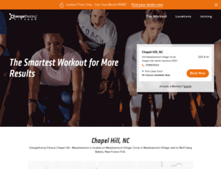chapel-hill.orangetheoryfitness.com screenshot