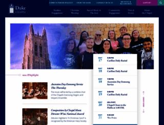 chapel.duke.edu screenshot