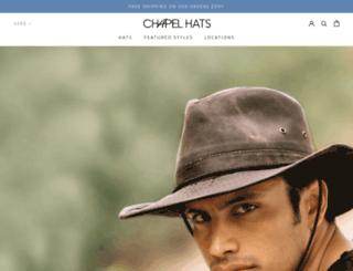 chapelhats.com screenshot