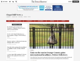 chapelhillnews.com screenshot