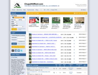 chapelhillrent.com screenshot