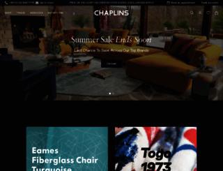 chaplins.co.uk screenshot